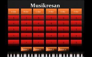 Musikresan skärmbild